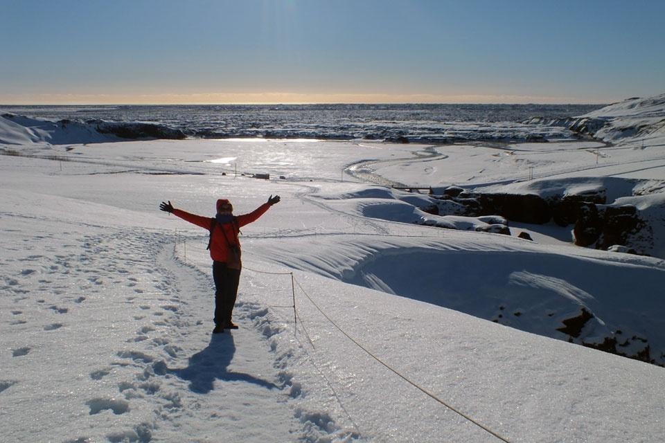 Sneeuwlandschap in IJsland